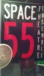 "Banner that says ""Space 55 Theater Ensemble"""