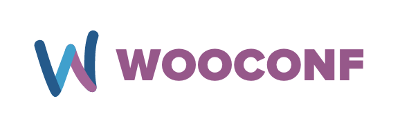 stylized W and the words WooConf in purple letters