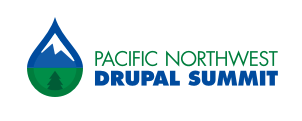sign that says Pacific Northwest Drupal Summit in a simple font