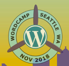WordCamp Seattle Logo, looks like a prop from an airplane