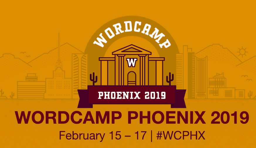 WordCamp Phoenix Logo February 15 to 17