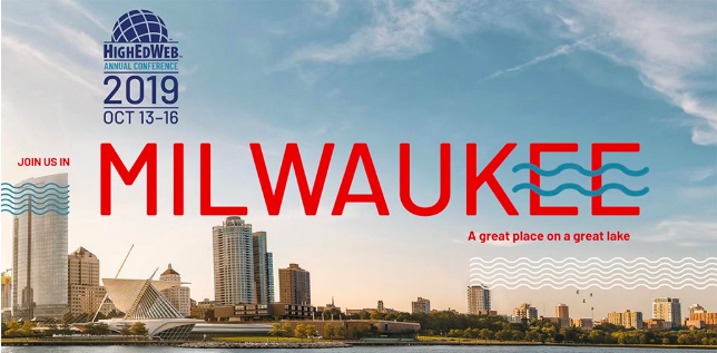 HighEdWeb 2019: Milwaukee in the fall is cold but we didn't have that far to walk